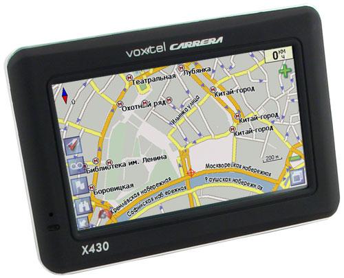 Навигатор GPS Voxtel Carrera x430