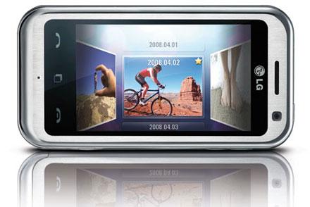 мобильный телефон LG KM900 Arena с сенсорным экраном