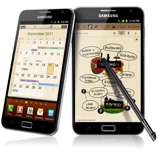 Планшетный смартфон Samsung Galaxy Note N7000