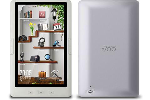 электронная книга с цветным сенсорным экраном Digma t700 White