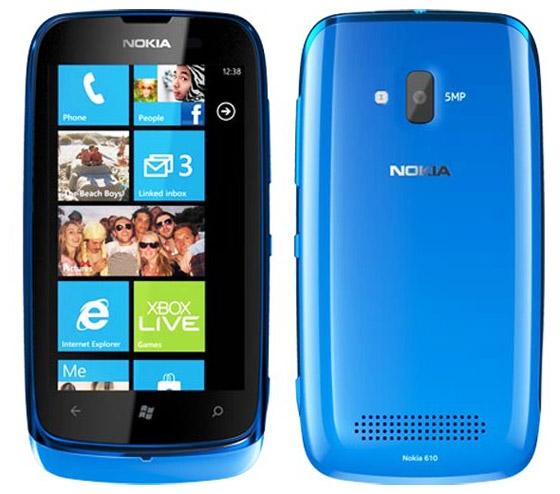 Бюджетный смартфон-коммуникатор Nokia Lumia 610