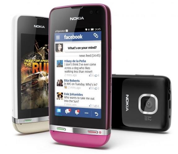 Мобильный телефон Nokia Asha 311 с сенсорным экраном и Wi-Fi