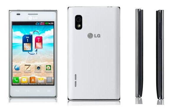 Двух-симочный смартфон LG Optimus L5 E615